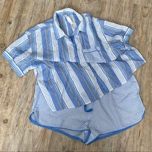 Stars Above NWT Pajama Set Blue Stripes XXL